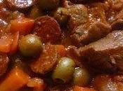 Sauté porc olives