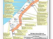 Carte interactive CICR aide rétablissement l'eau l'électricité Gaza
