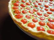 Tarte tomates cerise roquette