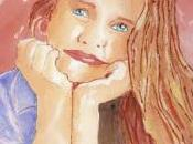 Portrait jeune fille rêveuse l'aquarelle