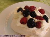Pavlova fruits individuelles