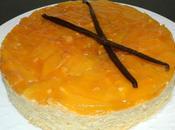 Gâteau semoule vanille, coco, mangue (façon tatin)