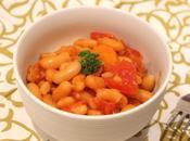 Mogettes tomates, lardons carottes