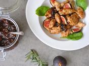 Araignées porc chutney figues-estragon maison