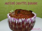 MUFFINS CAROTTES BANANE (sans lait, sans gluten, sucre raffiné)