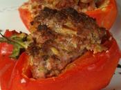 Poivron farcie porc haché, olive chorizo