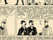 retrouve planche originale Tintin derrière meuble