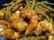 Crevettes sautées façon Extrême-Orient Far-East Asian style shrimp stir