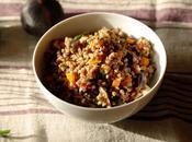 Salade végétarienne sarrasin saveurs d'automne courge butternut, figues noisettes aneth