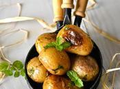 Petites pommes terre l'huile d'olive menthe