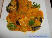 Soupe moules ravioles