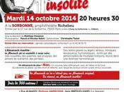 Lecture Sorbonne pour sortie l'Almanach insolite