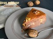 Gâteau magique châtaigne noix {sans gluten sans lactose}