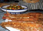 Grondin rouge frit légumes