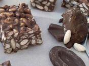Barres chocolatées soufflé