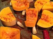 Potage épicé courge butternut grillée