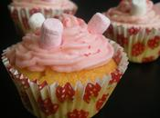 Cupcakes fraise chamallows