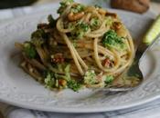 Spaghetti complets avec brocoli noix recette