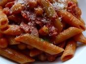 Penne bacon pois chiches