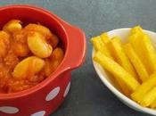 Haricots façon cassoulet frites Polenta