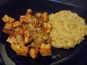 Poulet/tofu curry chou chinois [Végé]