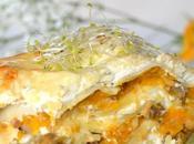 Lasagnes végétariennes Butternut, châtaignes protéines soja