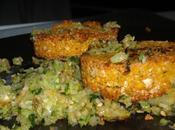 repas midi! falafels maison, courgettes sésame...