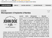 STONEPOWER créer l'agence JohnDoe Fils Nantes