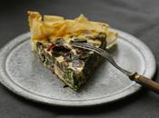 tart quiche pâte filo légumes réalisée dans seule poêle
