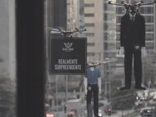 drones réalisent défilé mode pour Black Friday