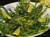 Salade tiède roquette fèves