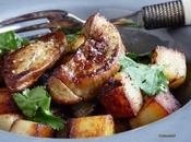 Escalope foie gras pommes terre rissolees