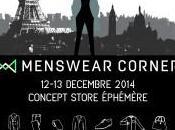 Paris Seconde édition Concept store éphémère MENSWEAR CORNER déc)