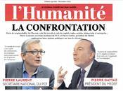 confrontation Pierre Laurent Gattaz. Humanité journalière décembre 2014