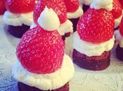 Brownie chapeau père Noël