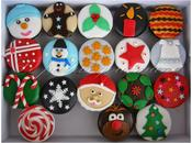 Cupcakes Noël fondant