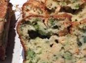 Cake chèvre, saumon brocolis
