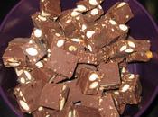 Fudges chocolat noir, amandes pralin