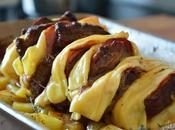 Rôti veau Orloff pommes terre four