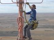 Intervention antenne mètres haut