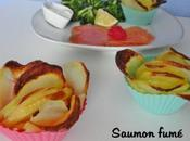 Saumon fumé fleur pomme terre