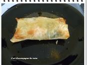 Croustillant saumon poireaux curry (dans bricks)