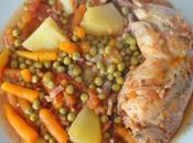 Cocotte cuisses poulet petits légumes