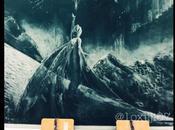 fresque Frozen craie dans salle classe Japonaise