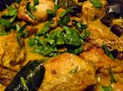 Curry vert thaï kabocha, aubergine poulet