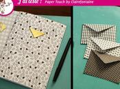 Mini-enveloppes carnet home made avec papiers Paper Touch Clairefontaine