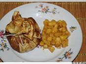 Aumoniere crepe pommes caramel beurre sale