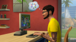 Comme Blanche Neige, Sims croque pomme