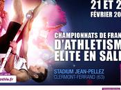Championnats France d'athlétisme salle Stadium Jean Pellez samedi dimanche février
