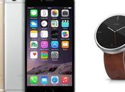 montre Android Wear connecte l'iPhone
